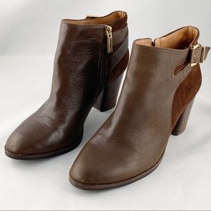 Louise et Cie Vasca Brown Leather Ankle Boots